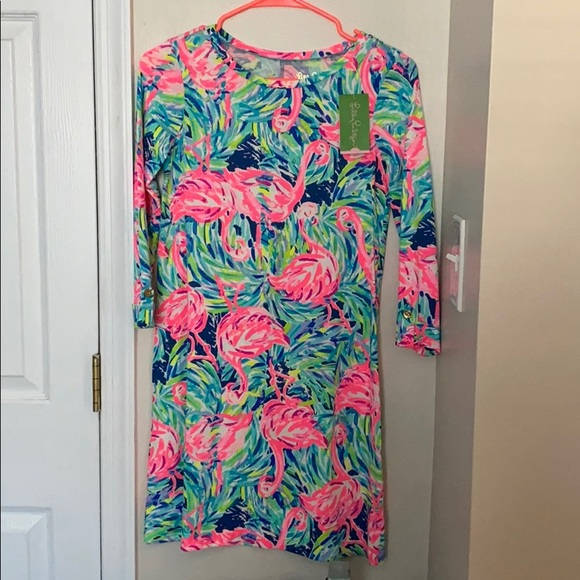 Lilly Pulitzer Dresses & Skirts - Lilly Pulitzer linden dress flamingo beach